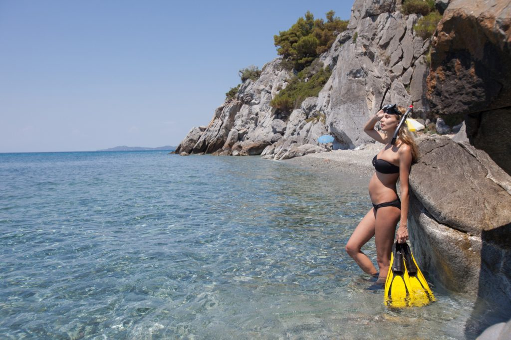 Pregnancy and diving, active lifestyle